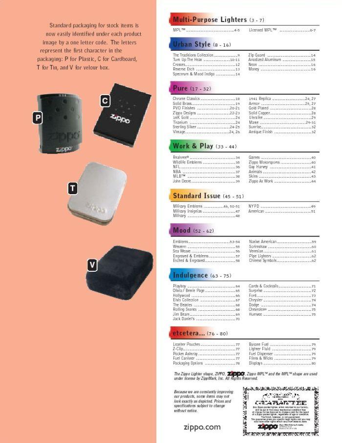 Catalogue ZIPPO 2005 Complete line (version américaine) 00zippo2005complete_line