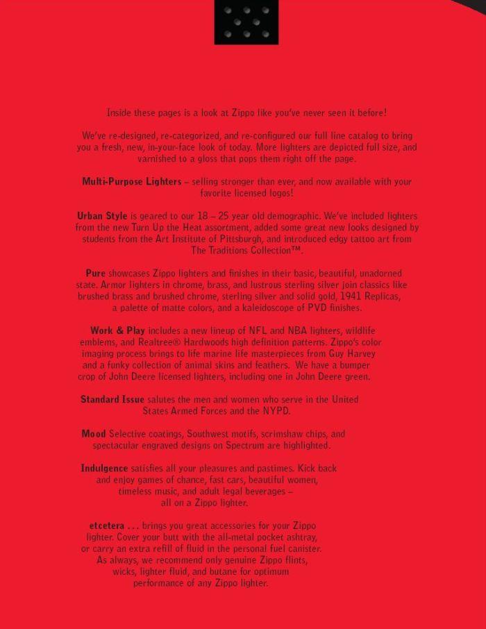 Catalogue ZIPPO 2005 Complete line (version américaine) 01zippo2005complete_line