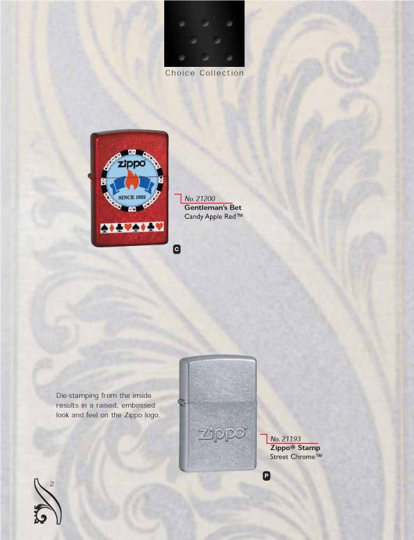 Catalogue ZIPPO 2006/07 Choice (version américaine) 02zippo2006_07choice