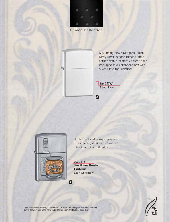 Catalogue ZIPPO 2006/07 Choice (version américaine) 13zippo2006_07choice