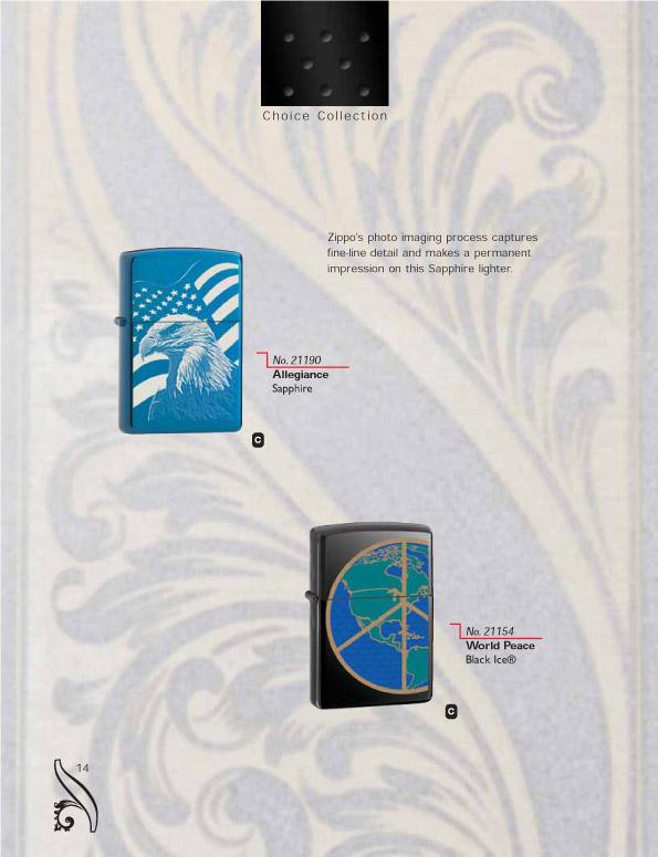 Catalogue ZIPPO 2006/07 Choice (version américaine) 14zippo2006_07choice