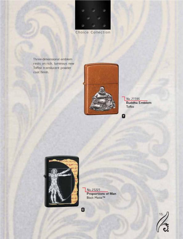 Catalogue ZIPPO 2006/07 Choice (version américaine) 15zippo2006_07choice