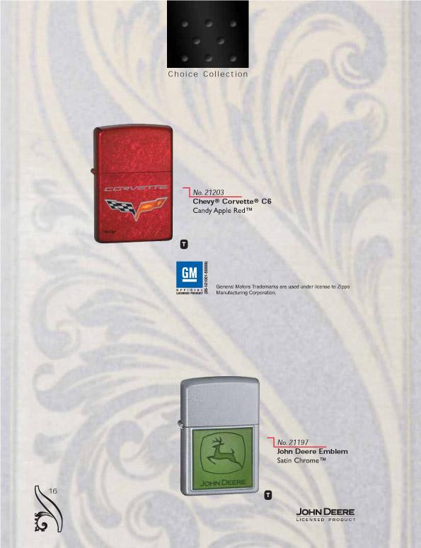Catalogue ZIPPO 2006/07 Choice (version américaine) 16zippo2006_07choice