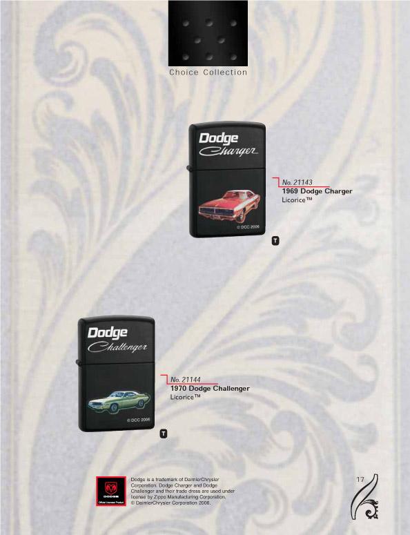 Catalogue ZIPPO 2006/07 Choice (version américaine) 17zippo2006_07choice