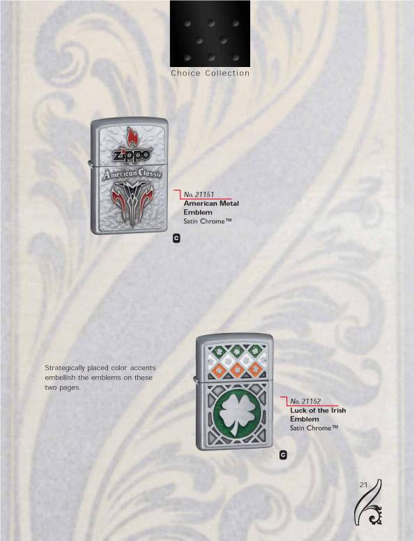 Catalogue ZIPPO 2006/07 Choice (version américaine) 21zippo2006_07choice