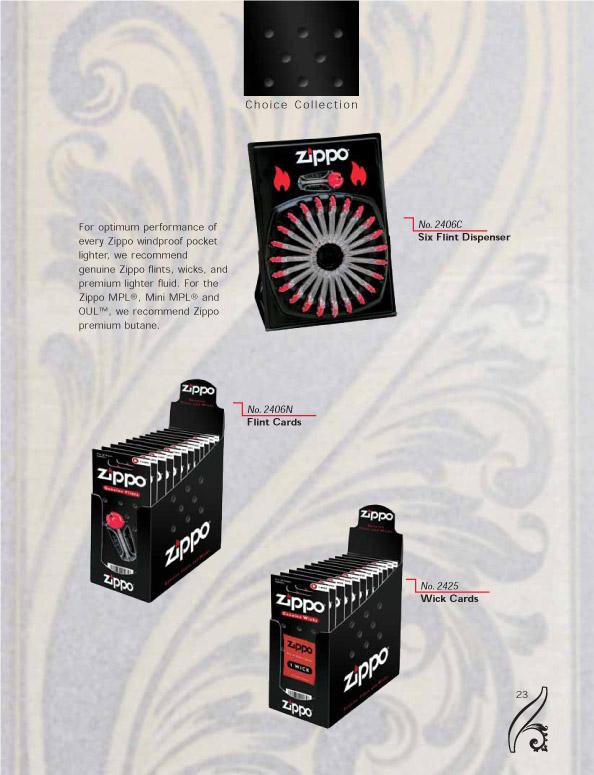 Catalogue ZIPPO 2006/07 Choice (version américaine) 23zippo2006_07choice