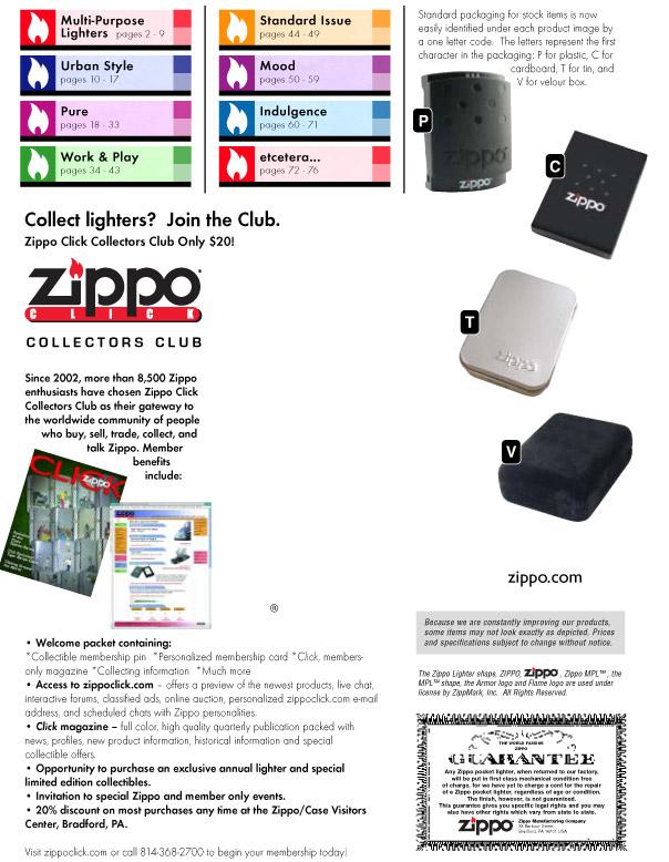 Catalogue ZIPPO 2006 Complete line (version américaine) 00zippo2006complete_line